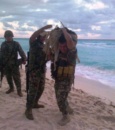 NUEVO RECALE EN ZONA HOTELERA: Hallan paquete con 40 kilos de marihuana en playa del hotel Royal Solarys en Cancún