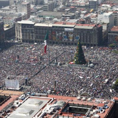 Llama AMLO a cercar al Senado y el Congreso para frenar reforma energética; tendrá respaldo de la CNTE