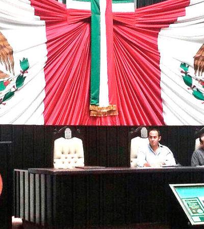 MAYORITEAN REFORMA ENERGÉTICA EN QR: Aprueban diputados del PRI, PAN, PVEM y Panal la apertura petrolera; en contra, el PRD, PT y MC; 'traición a la Patria', acusa Morena en manifestación afuera del Congreso