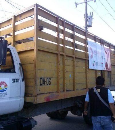 MUERE MOTOCICLISTA EN CHOQUE: Camión del Ayuntamiento de Cancún se impacta contra moto en la Región 218 de Cancún