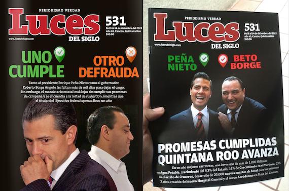 BORGE, INTOLERANTE Y 'CLONADOR': Acusan al Gobernador por falsificar, otra vez, ejemplar de revista Luces del Siglo