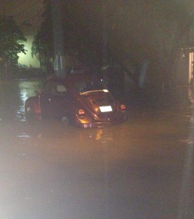 NAVIDAD BAJO AGUA EN CANCÚN: Amanece BJ con fuertes inundaciones por varias horas de lluvia en plena Nochebuena