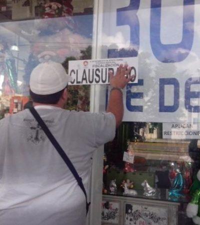 Clausuran Galerías El Triunfo en Cancún en la víspera de su reinauguración tras incendio