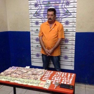 Cargado con 'crack' y cocaína, detienen a distribuidor de droga en Playa del Carmen