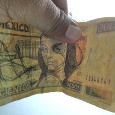 Advierten contra aparición de billetes falsos de $200 en Cozumel