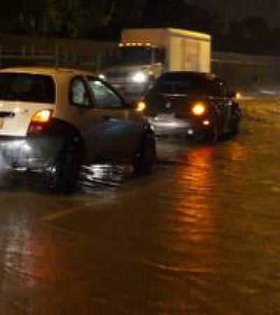 Nuevas lluvias en Cancún, provocan inundaciones y caos vial