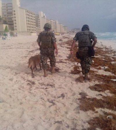 Recala paquete con marihuana en playa del 'Grand Parnassus' en la Zona Hotelera de Cancún