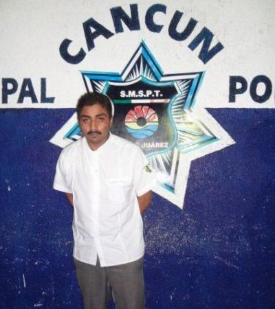 Capturan en Cancún a otro narcotaxista con 11 dosis de 'crack'