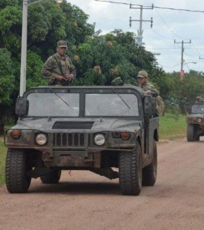 'PEINAN' MILITARES LA SELVA: Intensifica Ejército recorridos en el sur de QR tras hallazgo de pista clandestina del narco
