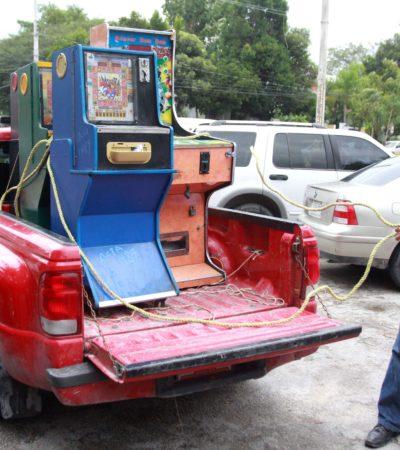 Decomisan 11 máquinas 'tragamonedas' en Cancún
