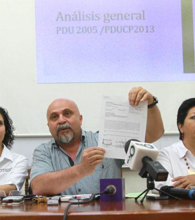 Buscarán revertir en el Cabildo el PDU de Cancún