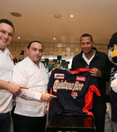 Borge se toma la foto con el beisbolista Alex Rodríguez
