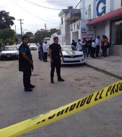 BALEADO EN GIMNASIO DE LA UXMAL: Intentan ejecutar a encargado de casa de masajes clandestina en pleno centro de Cancún