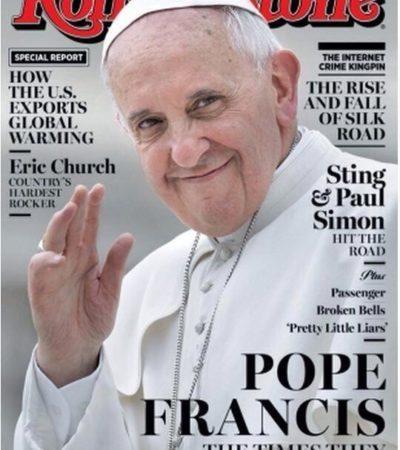 ¿SE ACERCA EL APOCALIPSIS?: Da Rolling Stone su portada al Papa Francisco