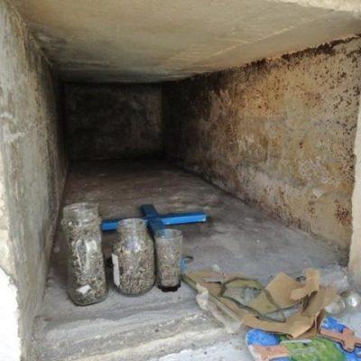 Profanan tumbas en panteón de Cozumel