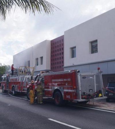 Incendio en Plaza Quetzales de Cancún
