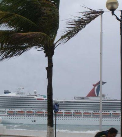 Modifican cruceros itinerario en Cozumel por mal tiempo en la región