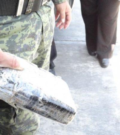 Recala cocaína en Cozumel; es el tercer paquete del año