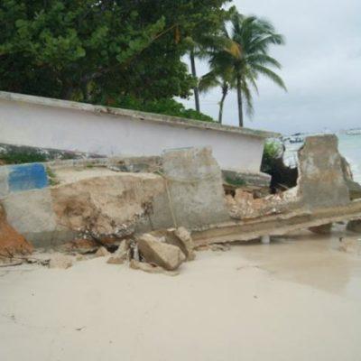 ACELERADA EROSIÓN DE PLAYAS: Fuerte oleaje provocado por frente frío se come la arena y amenaza infraestructura hotelera en la Riviera Maya