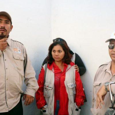 MANIFESTACIÓN POR DESPIDOS: Dejan sin trabajo a 80 brigadistas de Sesa