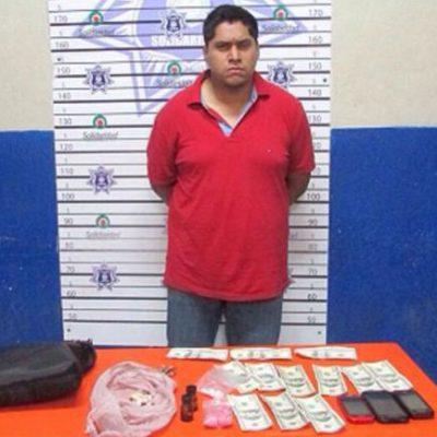 Capturan a narcomenudista en Playa con 192 dosis de droga sintética y dólares falsos