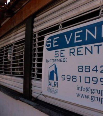 Documentan cierres de negocios en la zona de la Yaxchilán por extorsiones y mayores cargas fiscales