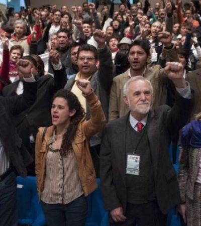 Cumple Morena requisitos para constituirse como partido político y entrega solicitud de registro al IFE
