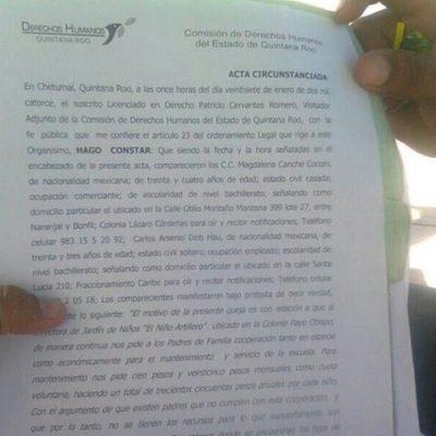 Interponen queja contra directora de escuela por cobro de cuotas en Chetumal
