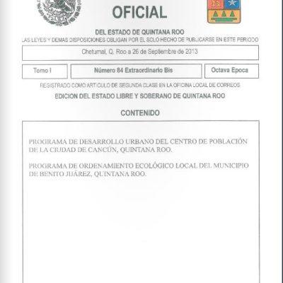 LOS DOCUMENTOS DE LA POLÉMICA: Consulta íntegros el PDU de Cancún y el Periódico Oficial de QR