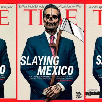 """""""¿QUIÉN SABE CUÁNTO FUE EL CHAYOTE?"""": Califica AMLO de """"desproporción, barbaridad y mentira"""" la portada de Peña Nieto en la revista Time"""
