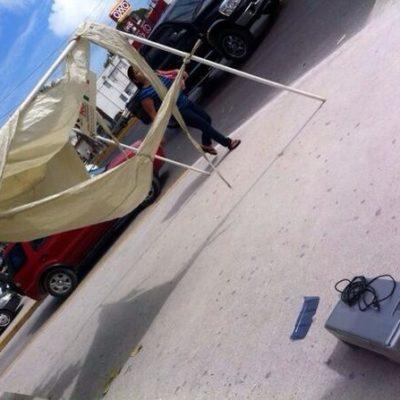 ESTALLA INTOLERANCIA POLÍTICA: Atacan golpeadores módulos del PAN en Cancún por recabar firmas para amparo colectivo contra el aumento del IVA; Borge y Paul condenan agresión y se deslindan