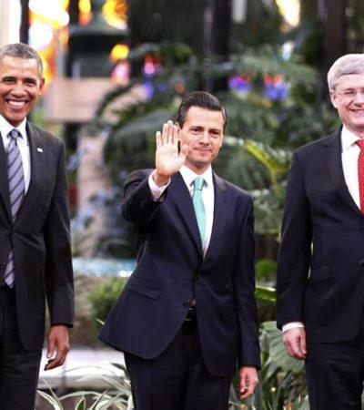 """CUMBRE TRILATERAL EN TOLUCA: Califica Obama de """"urgentes"""" las reformas en seguridad y justicia de México"""