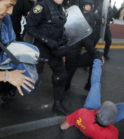 Protestas, enfrentamientos y represión antes del encuentro de Presidentes
