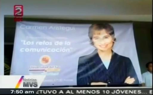 """""""¿QUIÉN LOS ENGAÑO?"""": Desmiente Aristegui viaje a Cancún para participar en supuesta conferencia en la Universidad del Sur"""