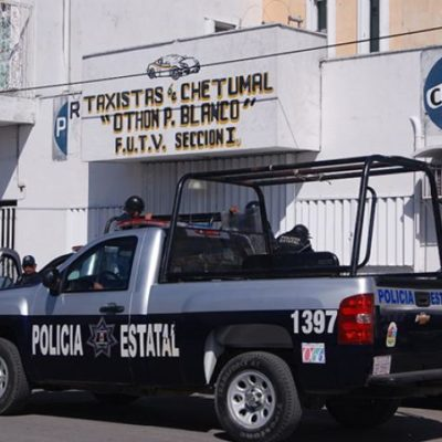 Pese a la creciente inseguridad en Chetumal, destinan hasta 5 patrullas para cuidarle la espalda a líder de taxistas