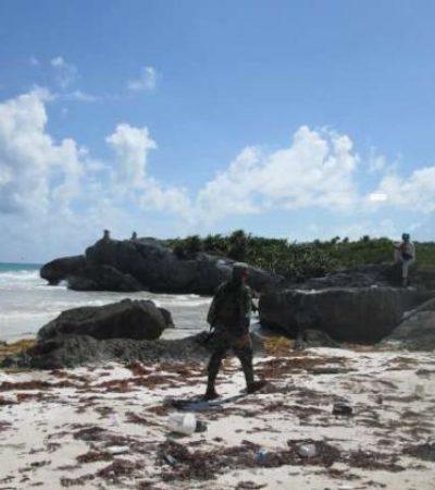 Despliegan militares operativo contra narcos luego de 3 recalones simultáneos de droga en la Riviera Maya