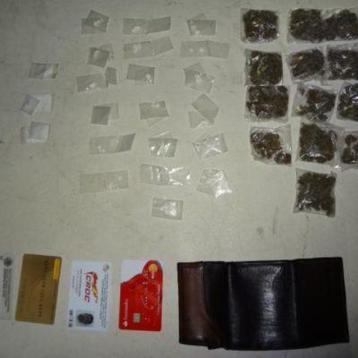 Cae narcomenudista con 'crack', cocaína y marihuana en la Región 75