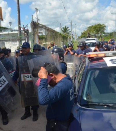 CATEAN FEDERALES EL CERESO: Con apoyo de militares, la PGR revisa la cárcel de Chetumal y halla drogas y objetos punzocortantes