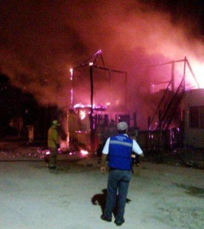 Incendian pandilleros vivienda en fraccionamiento Villamar I de Playa del Carmen