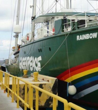 Arriba a Cozumel el 'Rainbow Warrior', buque insignia de Greenpeace