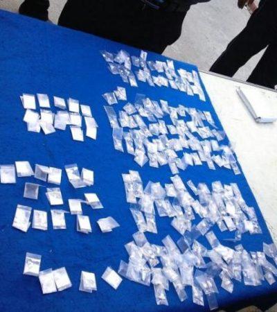 REPARTÍAN DROGA A DOMICILIO: Detienen a 'tirador' y a narco-taxista con 185 dosis de cocaína y 'crack' en Cancún