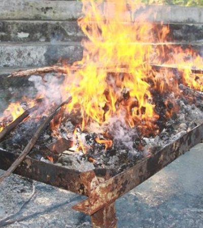 Queman droga en Chetumal
