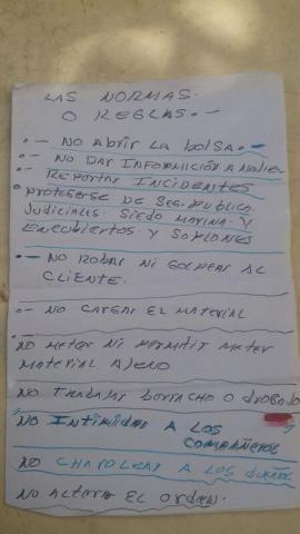 """NO TRABAJAR BORRACHO O DROGADO…"": Ventilan 'código de conducta' criminal decomisado a narco en Cancún"