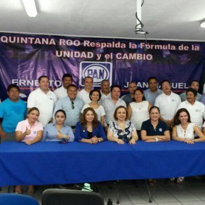 Respaldan panistas de QR candidatura de Cordero
