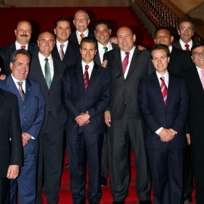 LA 'INEXPLICABLE AUSENCIA' DE BETO: Se reúne Peña Nieto con Gobernadores priistas y Borge se retira intespectivamente… y no sale en la foto