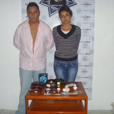 Cae pareja de ladrones que operaba en plazas de la Zona Hotelera de Cancún