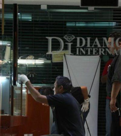 EL MAYOR GOLPE, EN CANCÚN: Sustrajeron ladrones diamantes y piedras preciosas de joyería en Plaza Caracol por valor de más de 873 mil dólares; no descartan auto robo