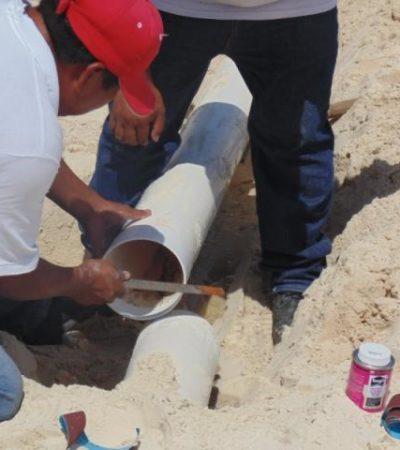 Nuevo derrame de aguas negras en la playa por rotura de tubería