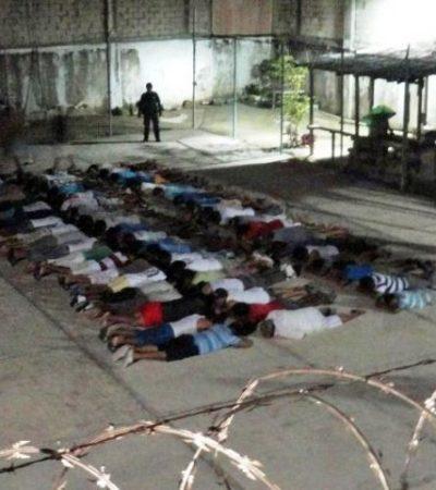 Revisan policías y soldados cárcel de Cozumel