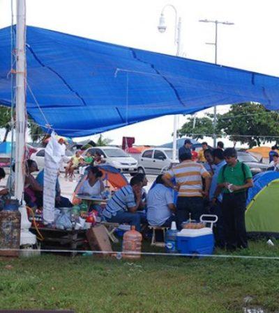 Por falta de acuerdos por reacomodos, convocan a nuevo plantón magisterial en Chetumal